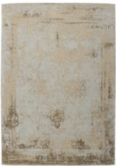Kayoom vintage-Patchwork vloerkleed - echt handgemaakt 80 x 150 Turkoois