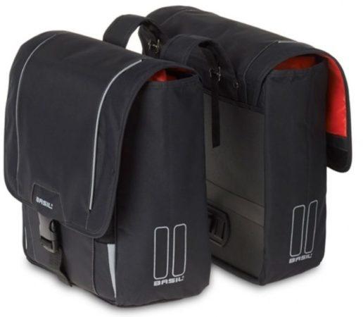 Afbeelding van Zwarte Basil Sport Design Double Bag Fietstas - Achterop - Waterafstotend polyester - Black