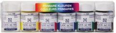 Talens plakkaatverf Extra Fijn flacon van 16 ml, set van 6 flacons in primaire kleuren