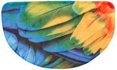 """Bagnola Badematte """"Animal"""" - Größe Ø 80 Cm, Papagei"""