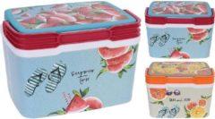 Oranje Excellent Houseware Koelbox 29 Liter Met Print 2 Assorti