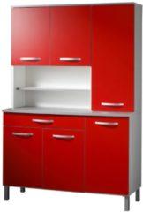 Buffet Anrichte Küche 'Season 2' Rot Parisot Rot - Alu-Grau