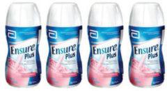 Abbott Ensure Plus Drink Fragola per il recupero di deficit nutrizionali e del peso corporeo 4x200ml