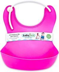 Roze Baby Jem Babyjem - Slabbetje Sillicoon - Slabbetje New Born - Slabber Short Baby