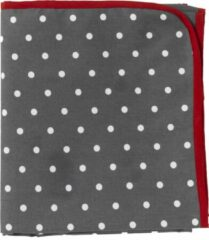 Donkergrijze Just a Joy Picknickkleed grijs met witte stip