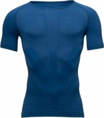 Blauwe Running compressie T-shirt Falke H T-shirt Warm