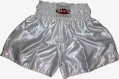 Ali's Fightgear TTBE-002 - Kickboks broekje effen kleur wit maat S