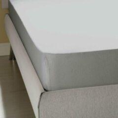 Homéé® Jersey hoeslaken stretch tweepersoons - Hoeslaken - 140/150x200/220 +30 cm - 100% katoen - grijs