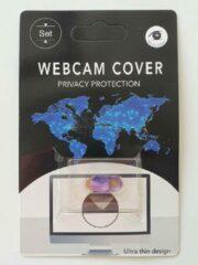 Merkloos / Sans marque Universeel Ultra Dun Webcam Cover - Privacy Schuifje - Webcam Slide - Webcam Shutter - Geschikt voor Macbook, Laptop, Tablet, Smartphone - Roze/Paars
