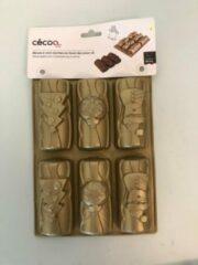 Merkloos / Sans marque Bakvorm siliconen - goud