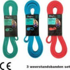 Rode Kaytan Weerstandsbandenset- set van 3- 15kg-25kg-35kg- fitness elastiek- resistance band- home workout- krachttraining- sport elastiek- thuis gym