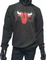 Zwarte new era nba graphic overlap hoody chibul blk