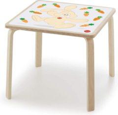 Sevi Kindertafel Konijn 53 X 47 Cm Hout Blank