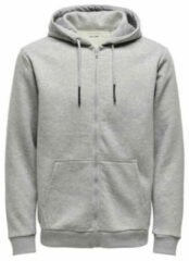 Grijze Kleding Onsceres Life Zip Hoodie Sweat by Only & Sons