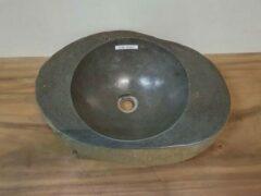 Grijze Puurteak Waskom natuursteen FL2067 - 53x39x13cm