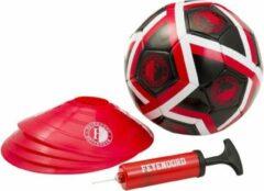 Rode Feyenoord Rotterdam trainingsset | VoetBal | Pionnen | Pomp