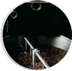 Grijze KuijsFotoprint Forex Wandcirkel - Koffiebonenmachine - 20x20cm Foto op Wandcirkel (met ophangsysteem)