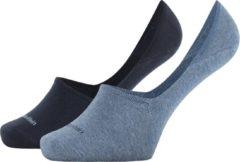 Blauwe Calvin Klein Cotton Luca 2P Heren Invisible sneakersok - 43-46