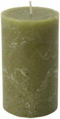 Xenos Kaars rustiek - mosgroen - 7x12 cm