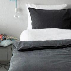 Antraciet-grijze Essenza Guy - Dekbedovertrek - Eenpersoons - 140 x 200/220 cm - Antraciet