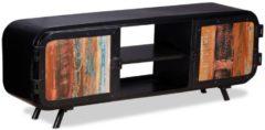 Zwarte VidaXL Tv-meubel gerecycled hout 120x30x45 cm