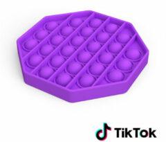 Merkloos / Sans marque Pop it Fidget Toy- Bekend van TikTok - Hexagon - Paars
