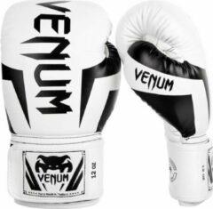 Venum Kickboks Bokshandschoenen Elite Wit Zwart 10 OZ
