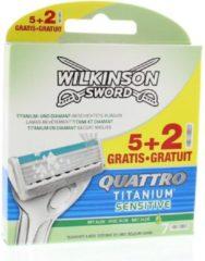 Merkloos / Sans marque Wilkinson Quattro Titanium sensitive 7 stuks - Scheermesjes