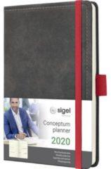 !weekagenda Sigel Conceptum design vintage donkergrijs A6 192 blz. 80g 2 Pag. = 1 Week
