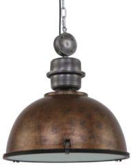 Bruine Robuuste hanglamp Steinhauer Bikkel XXL bruin 52 cm 7834B