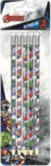 Marvel Avengers Potloden Hb Hout Wit/blauw 5 Stuks