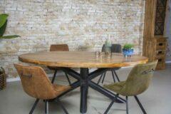 Gister&Vandaag Ovale eettafel van mangohout 260 x 120 cm