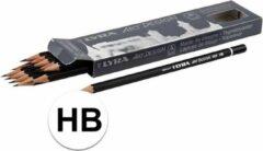 Zwarte Merkloos / Sans marque 12 stuks professionele tekenpotloden hardheid HB