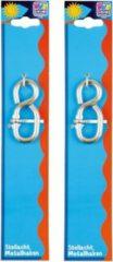 Happy People 2x Stelhaken / metaalhaken staal - 8 cm - in hoogte verstellen van schommels - verstelhaken / stelhaken