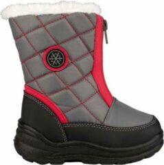 Winter-grip - Snowboots - Meisjes - Grijs/Rood - Maat 28