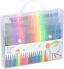 Kangaro 100x Gekleurde viltstiften in draagtas - Viltstiften voor kinderen - Kleuren - Creatief speelgoed