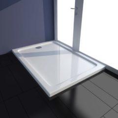 VidaXL Piatto doccia rettangolare in ABS bianco 70 x 100 cm