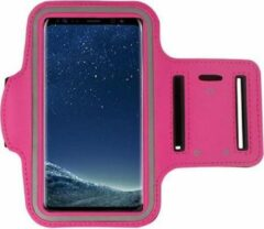 Samsung Galaxy A71 hoes Sportarmband Hardloopband hoesje Roze Pearlycase