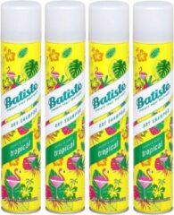 Batiste Tropical Droogshampoo - 4 x 200 ml - Voordeelpakket