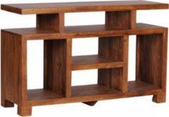 Wohnling Sideboard MUMBAI Sheesham Massivholz 115 x 76 x 40 cm Landhaus-Stil Fernseh-Kommode mit Staufächern TV-Schrank Anrichte Echt-Holz mit 4 Sta