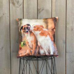 Lekker Zacht Animal Fun Kussen - Honden
