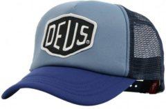 Lichtblauwe Deus Ex Machina DEUS Baylands Trucker Blauw - Cap - Mannen
