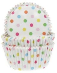 Witte House of Marie Cupcake Cups Confetti 50x33mm. 50st.