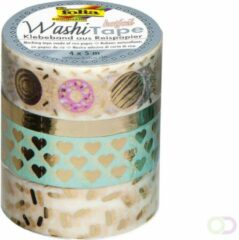 Folia Paper Washi tape hotfoil goud