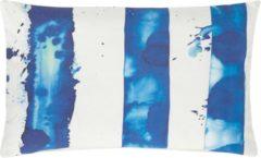 Blauwe Kussenhoes Painted Blue Stripes- 30X50CM - SET VAN 4
