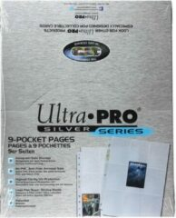 Zilveren Ultrapro 9 Pocket Pages Silver Display (100 Pages)