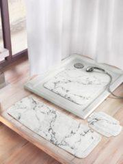 Badewanneneinlage 'Marmor' Kleine Wolke weiß/grau marmoriert
