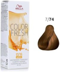 Rode Wella Professionals Wella - Color - Color Fresh - 7/74 Midden Bruin Rood Blond - 75 ml