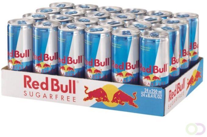 Afbeelding van Energy drank red bull suikervrij blikje 0.25l