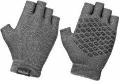 Antraciet-grijze GripGrab Freedom Knitted Short Finger Handschoenen - Antraciet - Maat XS/S